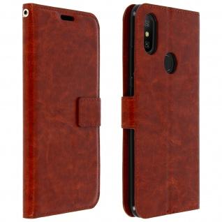 Flip Cover Stand Case Brieftasche & Standfunktion für Xiaomi Mi A2 - Braun