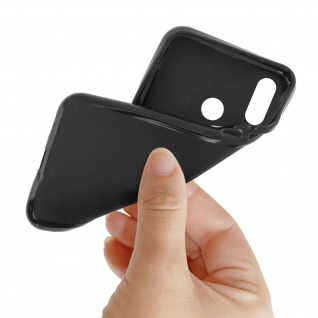 Gelhülle, flexibles Backcover für Huawei P Smart Plus, frosted case - Schwarz - Vorschau 5