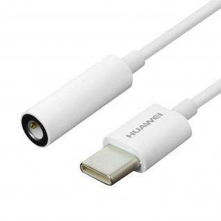 Original Huawei CM20 USB-C auf 3.5mm Klinkenstecker Adapter für Kopfhörer - Weiß