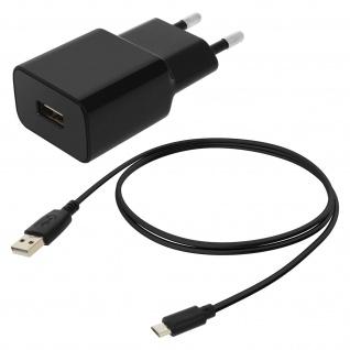 Wand Ladegerät + Micro-USB Ladekabel 1000 mAh - Schwarz