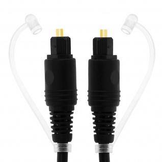 Digitales Audio-Toslink-Kabel mit Lichtwellenleiter 3m LinQ � Schwarz