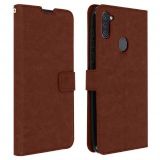 Flip Stand Case Brieftasche & Standfunktion für Galaxy A11 - Braun