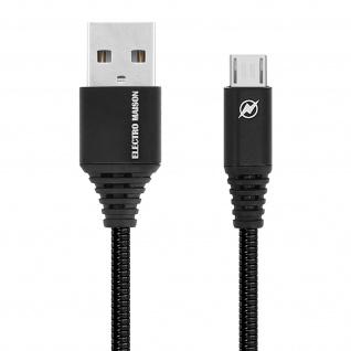 Micro-USB / USB-Ladekabel Aluminium, Aufladen & Synchronisation 1m - Schwarz