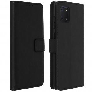 Flip Stand Case Brieftasche & Standfunktion für Galaxy Note 10 Lite - Schwarz
