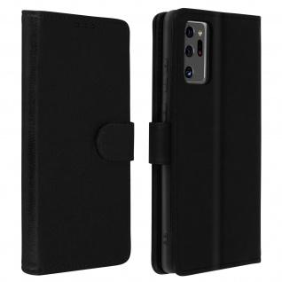 Flip Cover Geldbörse, Klappetui Kunstleder für Galaxy Note 20 Ultra ? Schwarz