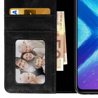 Flip Stand Cover Brieftasche & Standfunktion Huawei Honor 8X - Schwarz - Vorschau 5