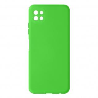 Halbsteife Silikon Handyhülle für Samsung Galaxy A22 5G, Soft Touch ? Grün