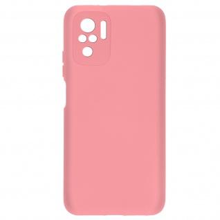 Halbsteife Silikonhülle für Xiaomi Redmi Note 10 / Note 10s, Soft Touch ? Rosa