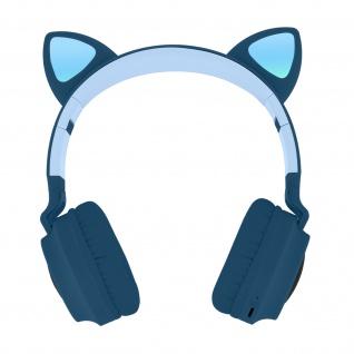 Katzenohren kabellose Bluetooth Kopfhörer, Kitty Headset ? Dunkelblau
