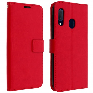 Flip Cover Stand Case Brieftasche & Standfunktion Samsung Galaxy A20e - Rot