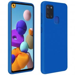 Halbsteife Silikon Handyhülle Samsung Galaxy A21s, Soft Touch - Blau