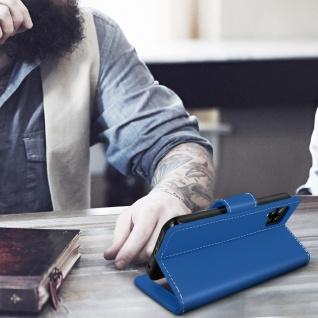Samsung Galaxy A42 5G Klapphülle mit Portemonnaie - Blau - Vorschau 4