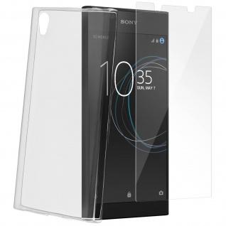 Sony Xperia L1 360° Rundumschutz - transparente Hülle + Glas-Displayschutzfolie