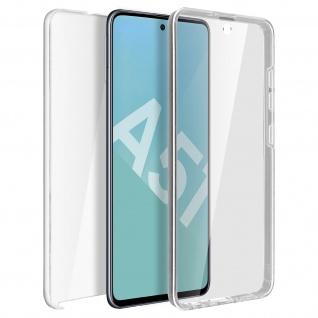 Schutzhülle für Samsung Galaxy A51, Vorder- + Rückseite ? Transparent