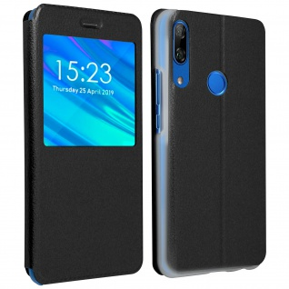S-View Cover mit Sichtfenster Huawei P Smart Z/Y9 Prime 2019, Honor 9X - Schwarz