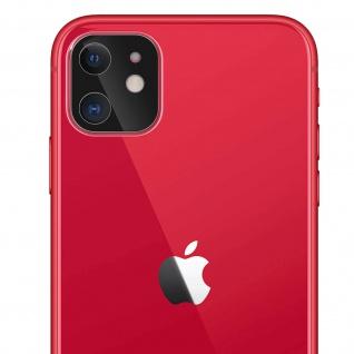 Apple iPhone 11 Rückkamera Schutzfolie aus 9H Panzerglas mit transparentem Rand.