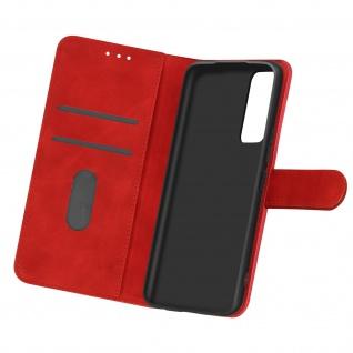 Flip Cover Geldbörse, Etui Kunstleder für Samsung Galaxy A02s ? Rot