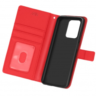 Xiaomi Redmi Note 10 5G / Poco M3 Pro Etui mit Kartenfächern ? Rot