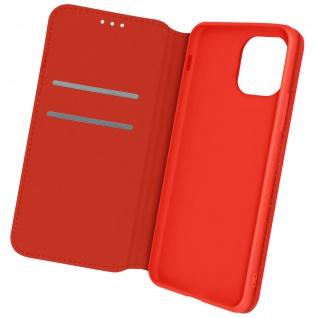 Kunstleder Cover Classic Edition, Klappetui für Apple iPhone 12 Mini ? Rot