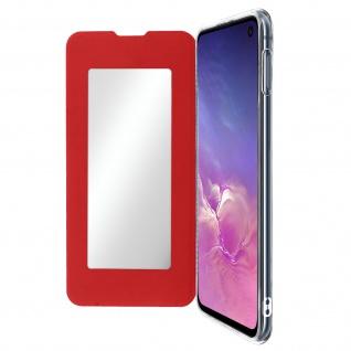 Spiegel Hülle, dünne Klapphülle für Samsung Galaxy S10e - Rot