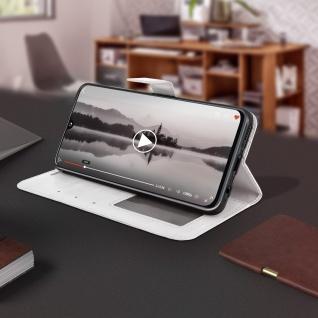 Flip Stand Cover Brieftasche & Standfunktion für Samsung Galaxy A40 - Weiß - Vorschau 4
