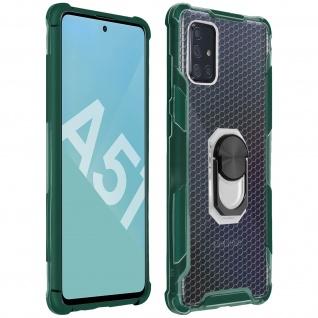 Hybrid Handyhülle mit Ring Halterung für Galaxy A51 - Grün - Vorschau 1