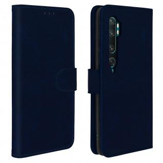Flip Cover Geldbörse, Klappetui Kunstleder für Xiaomi Mi Note 10 ? Blau