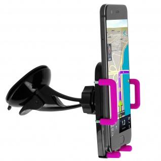 Kfz-Halterung für Smartphones Saugnapf + Lüftungshalterung - Rosa