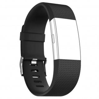 Silicone Sport Armband für FitBit Charge 2, mit Dornschließe ? Schwarz