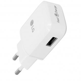 Original LG USB Wand Ladegerät 1.8A + USB-Typ C Ladekabel - Weiß