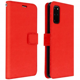 Flip Cover Stand Case Brieftasche & Standfunktion Samsung Galaxy S20 Plus - Rot