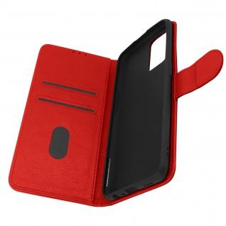 Klappetui mit Geldbörse, Kunstlederhülle für Oppo A74 ? Rot