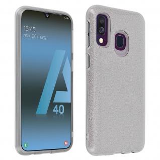 Schutzhülle, Glitter Case für Samsung Galaxy A40, shiny & girly Hülle - Silber