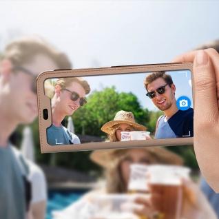 Smart View Flip Cover, Klappetui für Huawei P Smart Plus - Rosegold - Vorschau 3