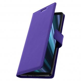 Flip Stand Cover Brieftasche & Standfunktion für Sony Xperia 1 - Violett - Vorschau 2