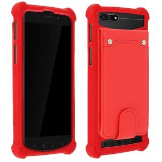 Schockabsorbierende Hülle für Smartphones zwischen 3.8'' und 4.3'' - Rot