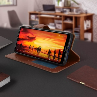 Flip Stand Cover Brieftasche & Standfunktion für Huawei Y7 2019 - Braun - Vorschau 4