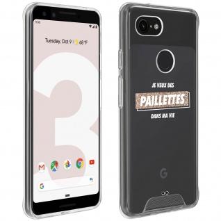"""Handyhülle für Google Pixel 3, Made in France ? """" Paillettes"""" Design"""