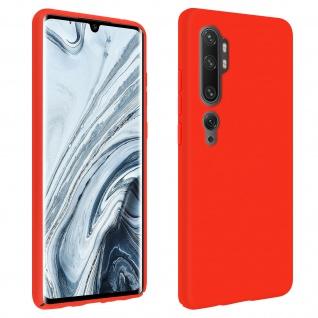 Halbsteife Silikon Handyhülle Xiaomi Mi Note 10 / Note 10 Pro, Soft Touch - Rot
