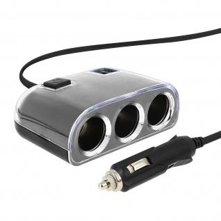 Zigaretten-Anzünder Autoladegerät 3x Zigaretten-Anzünder + 1x USB-Ausgang