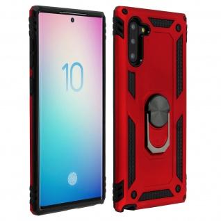 Hybrid Handyhülle mit Ring Halterung für Samsung Galaxy Note 10 - Rot