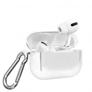 Apple Airpods Pro Metallic Schutzhülle + abnehmbarer Karabinerhaken - Silber
