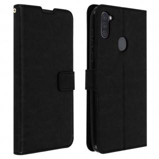 Flip Stand Case Brieftasche & Standfunktion für Galaxy A11 - Schwarz