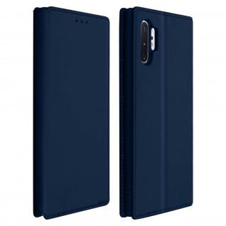 Kunstleder Cover Classic Edition Samsung Galaxy Note 10 Plus - Dunkelblau