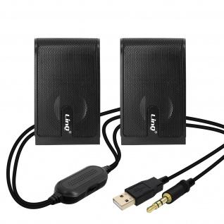 LinQ A2035 3, 5 mm kabelgebundener Lautsprecher 3 W x 2 � Schwarz