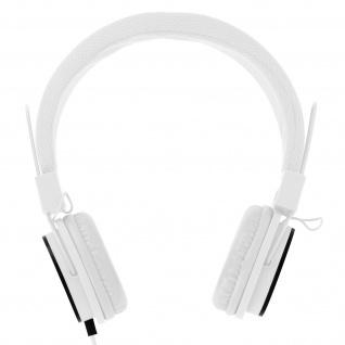 eXtra-Bass On-ear Kopfhörer mit Mikrofon und Freisprechanlage - Weiß