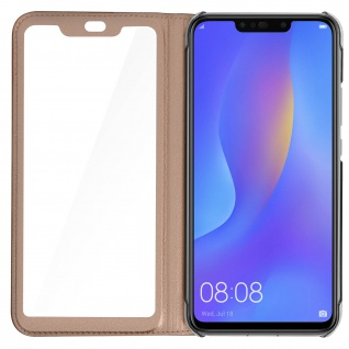 Smart View Flip Cover, Klappetui für Huawei P Smart Plus - Rosegold - Vorschau 5