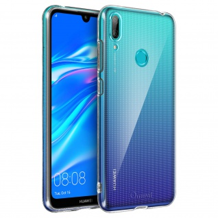 Huawei Y7 2019 Schutzhülle Backcover Silikon by Muvit - Transparent