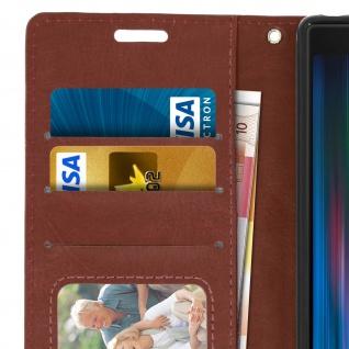 Flip Stand Cover Brieftasche & Standfunktion für Sony Xperia 10 - Braun - Vorschau 5