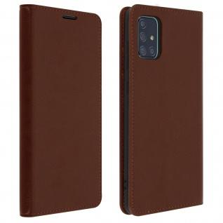Business Leder Cover, Schutzhülle mit Geldbörse Samsung Galaxy A71 â€? Braun
